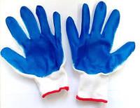 Перчатки нейлоновые с латексным неполным покрытием