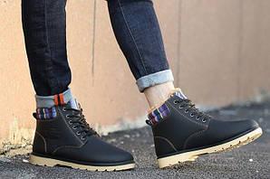 Зимние ботинки ХИТ СЕЗОНА! цвет - черный, натуральная кожа,