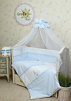 Детский комплект постельного белья для новорожденных Морячок