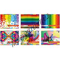Набор  цветной бумаги,  двухсторонняя,отрывные листы, А-4, 10 цветов, 10 листов, плотность 170г/м2