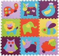 Детский игровой коврик-пазл Baby Great «Веселый зоопарк», фото 1