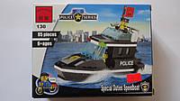 """Конструктор пластиковый """"Полицейский катер"""" 95ел,2фиг, в коробке 180*145*45мм,Englighten,6+.Пластиковый констр"""