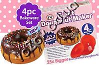 Форма силиконовая для выпечки гигантских пончиков Giant doughnut maker, фото 1