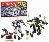 Конструктор BELA NINJA Битва роботов 10399, 757дет.