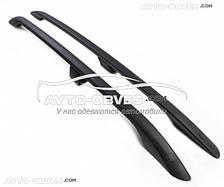 Рейлинги чёрные на крышу для Mitsubishi ASX с металлическими концевиками