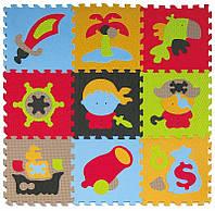 Детский игровой коврик-пазл Baby Great «Приключение пиратов» 92х92