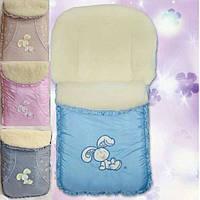 Конверт в коляску зимний на овчине, фото 1