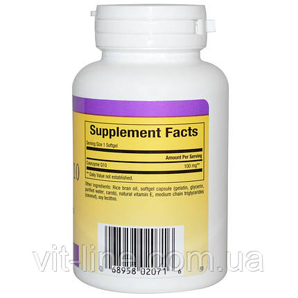 Natural Factors, Коэнзим Q10, Увеличенная абсорбция, 100 мг, 60 гелевых капсул, фото 2