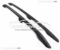 Рейлинги чёрные продольные для Fiat Doblo 2014-... (металлическое крепление), кор (L1) / длин (L2) базы