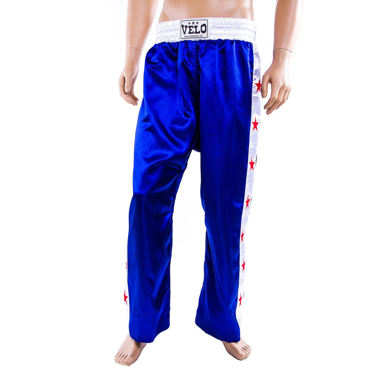 Штани для кікбоксингу Velo сині 9016-L