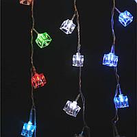Гирлянда кубики цветные огни 20 светодиодов