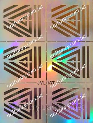 Трафарет для аэропуффинга и дизайна ногтей №47, фото 2