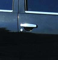 Dacia Sandero 2007-2013 гг. Накладки на ручки (4 шт., нерж.) OmsaLine - Итальянская нержавейка