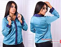 Рубашка на пуговичках из шелка