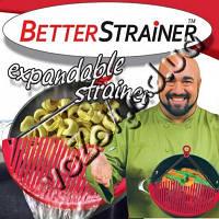 Дуршлаг-накладка-сито для слива воды промывания продуктов Better Strainer