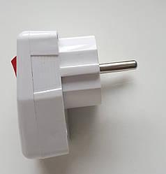 """Вилка """"Takel"""" Евро с ручкой с выключателем и заземлением, 16А-220V"""