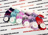 Носки  вязанные на махре подросток.Новогодние носки оптом.