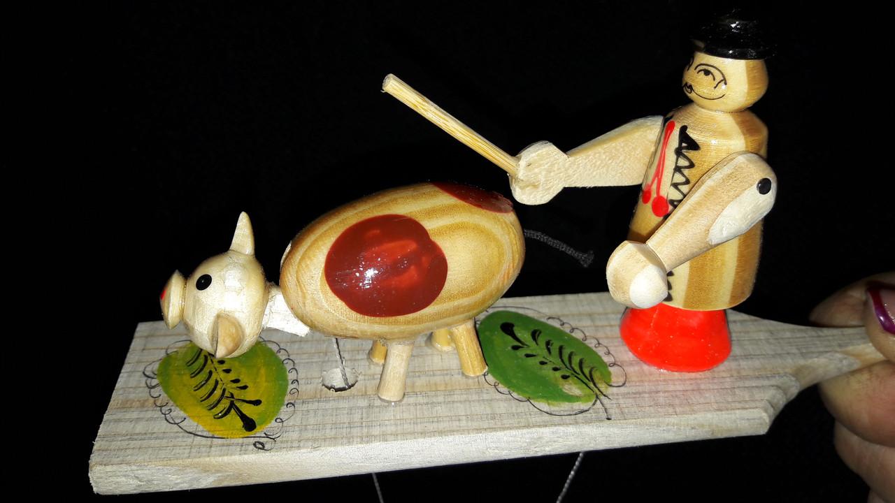 Пастух деревянный (эко-игрушка), 16,5х4 см, 50\45 (цена за 1 шт. +5 грн.)