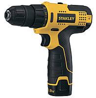 Дрель-шуруповерт аккумуляторный Stanley STCD-1081-B2 напряжение 10/8 В