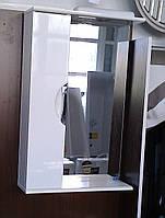 Зеркало З-01ВР-50 белое (500*165*705) левое с подсветкой, ТМ Николь
