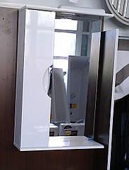 Дзеркало З-01ВР-50 біле (500*165*705) ліве з підсвічуванням, ТМ Ніколь