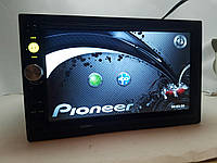2din магнитола pioneer pi-7023 gps + камера + карта памяти 8 гб + пульт на руль + шахта и рамка!