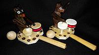Медведь-барабанщик (детская эко-игрушка), 50\45 см (цена за 1 шт. +5 грн.), фото 1