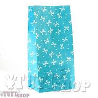 Подарочный пакет САШЕ с дном голубой 20 х 6,5 х 9,5 см