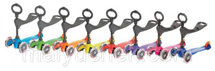 Самокаты mini micro 3 в 1 прозр колеса