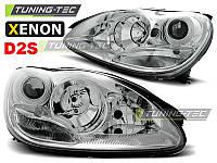 Передние фары тюнинг оптика Mercedes W220 xenon D2S