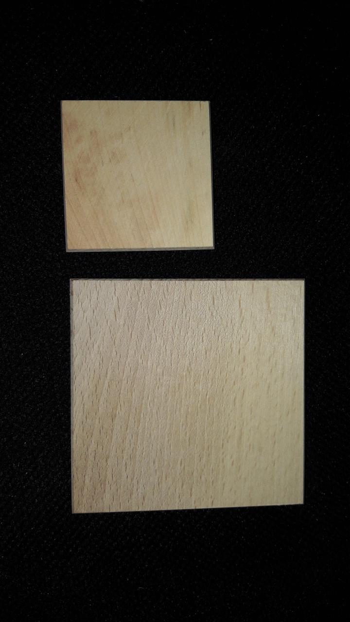 Заготовки деревянных досочек 5х5 см (4\3) (цена за 1 шт. +1 грн.)
