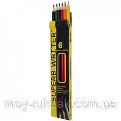 Карандаши цветные 6 цветов MARCO 4100-6CB Superb Writer