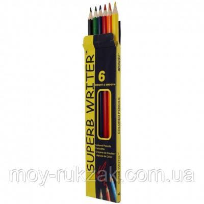 Карандаши цветные 6 цветов MARCO 4100-6CB Superb Writer, фото 2