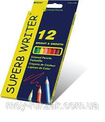 Карандаши цветные 12 цветов MARCO 4100-12CB Superb Writer