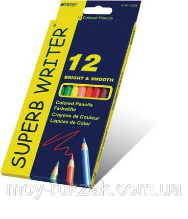 Карандаши цветные 12 цветов MARCO 4100-12CB Superb Writer, фото 2