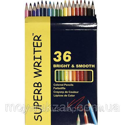 Карандаши цветные 36 цветов MARCO 4100-36CB Superb Writer, фото 2