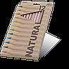 """Карандаши цветные12 цветов MARCO 6400-12CB Natural """"Jumbo""""+точилка"""