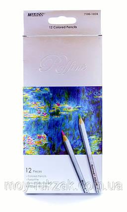 Карандаши цветные12цветов MARCO 7100-12CB Raffine, металлизированные, фото 2