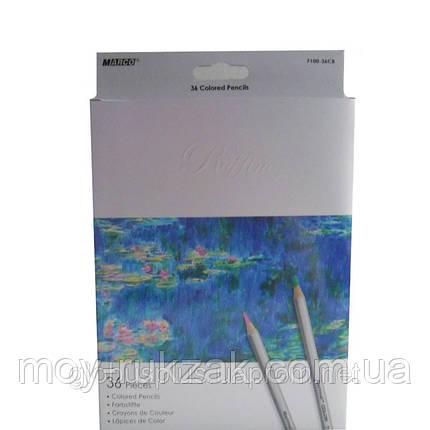 Карандаши цветные 36 цветов MARCO 7100-36CB Raffine, металлизированные, фото 2