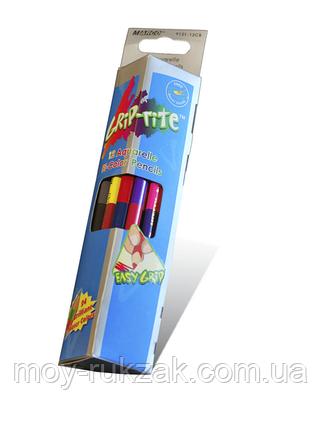 Карандаши цветные 12 цв. MARCO 9121-12CB Grip-Rite Aquarelle акварельные с кист., двухсторонние,треугольные., фото 2