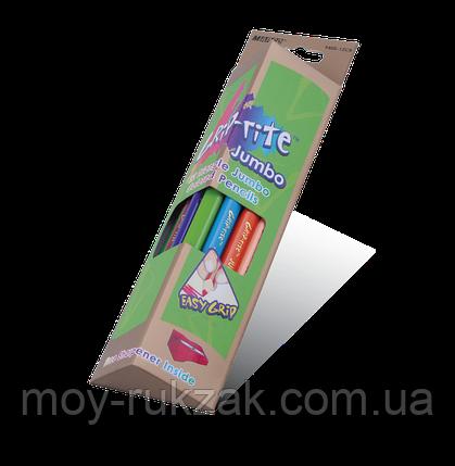 """Карандаши цветные 12 цветов MARCO 9400-12CB """"Jumbo""""+точилка, Grip-Rite,треугольные, фото 2"""