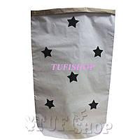 Бумажный пакет мешок для хранения Звезды 50x68