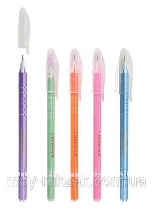"Ручка шариковая, масляная ""Flower Pearl Coated"" синяя ""1 Вересня"" 411032, фото 2"
