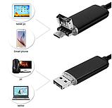 Ендоскоп 5м 5,5 мм USB 2в1, фото 2