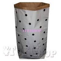 Бумажный пакет мешок для хранения Горошек 50*68