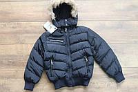 Теплая куртка со съемным капюшоном ( евро-зима) 4- 12 лет