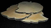 Заготовки деревянных досочек в форме листика  7х7 см, 8\6 (цена за 1 шт. +2 грн.)