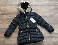 Теплая куртка со съемным капюшоном ( Евро- зима) 4- 12 лет