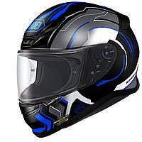 Мотошлем Shoei NXR Isomorph TC-2 черный синий серый S