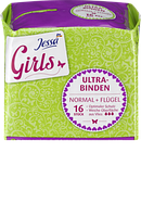 Гигиенические прокладки Jessa Girls Ultra-Binden Normal + Flügel, 16 шт